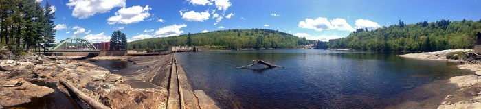 Mexico, ME - Panorama of Rumford Falls Dam