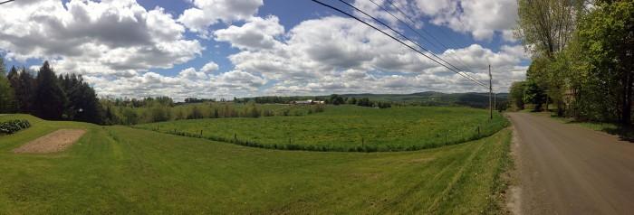 New Hampshire Dirt Road Vista